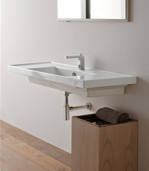 Lavabo 121x46,5 double shelf