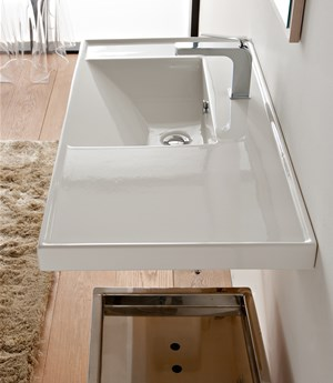 Lavabo 92x47 shelf SX