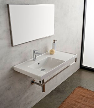 Lavabo 92x47 shelf DX